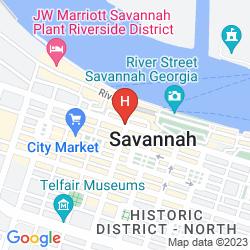 Mappa THE BOHEMIAN HOTEL SAVANNAH RIVERFRONT, AUTOGRAPH COLLECTION