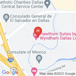Mappa HAWTHORN SUITES BY WYNDHAM DALLAS/LOVE FIELD AIRPORT