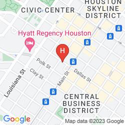 Mappa RESIDENCE INN HOUSTON DOWNTOWN