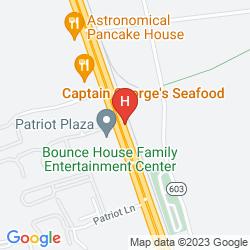 Mappa HOLIDAY INN PATRIOT-WILLIAMSBURG