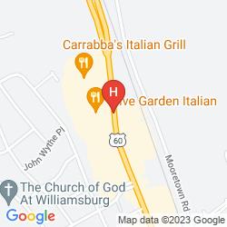 Mappa HAMPTON INN AND SUITES WILLIAMSBURG/RICHMOND ROAD