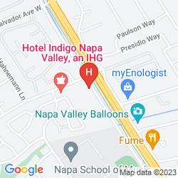 Mappa BEST WESTERN PREMIER IVY HOTEL NAPA