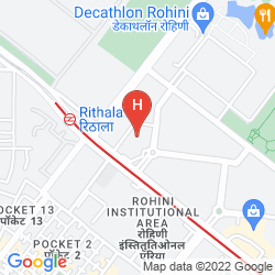 Mappa CROWNE PLAZA NEW DELHI ROHINI