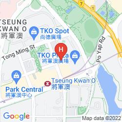Mappa HOLIDAY INN EXPRESS HONG KONG KOWLOON EAST