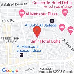 Mappa SAFIR HOTEL DOHA