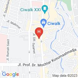 Mappa ASTON TROPICANA HOTEL BANDUNG