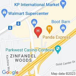 Mappa RED ROOF INN RANCHO CORDOVA