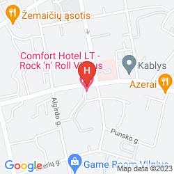 Mappa COMFORT HOTEL LT