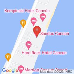 Mappa SANDOS CANCUN LUXURY EXPERIENCE