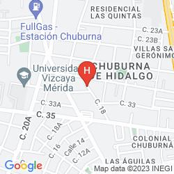 Mappa NA' LU'UM (HOTEL, RESTAURANTE, TEMAZCAL)