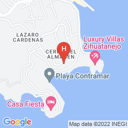 Mappa RAINTREE'S VILLA VERA, PUERTO MIO ZIHUATANEJO