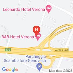 Mappa B&B HOTEL VERONA