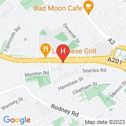 Mappa RESTUP LONDON HOTEL