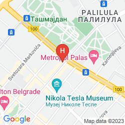 Mappa BOUTIQUE HOTEL TASH BELGRADE