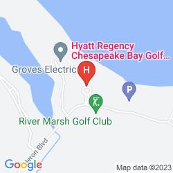 Mappa HYATT REGENCY CHESAPEAKE BAY GOLF RESORT SPA AND MARINA