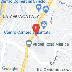 Mappa HOTEL BH EL POBLADO MEDELLIN