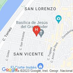 Mappa APARTAMENTOS ESLAVA