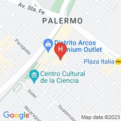 Mappa HOSTEL SUITES PALERMO