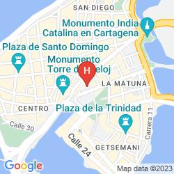 Mappa CENTRO HOTEL CARTAGENA