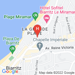 Mappa LE REGINA BIARRITZ HOTEL & SPA BY MGALLERY COLLECTION