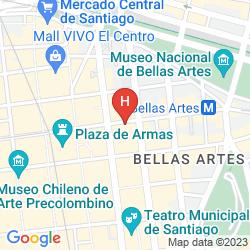 Mappa METROPOLITAN SANTIAGO APARTMENTS