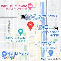Mappa ROYAL PARK THE KYOTO
