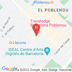 Mappa TRAVELODGE BARCELONA POBLENOU