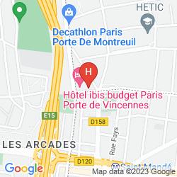 Mappa SEJOURS & AFFAIRES ST MANDE MONTREUIL