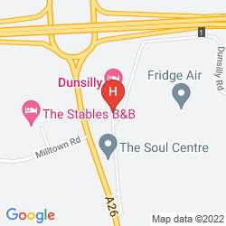 Mappa DUNSILLY HOTEL