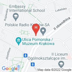 Mappa GOLDEN TULIP KRAKOW CITY CENTER HOTEL
