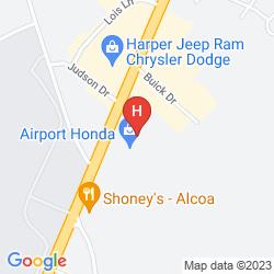 Mappa ROYAL INN KNOXVILLE AIRPORT ALCOA