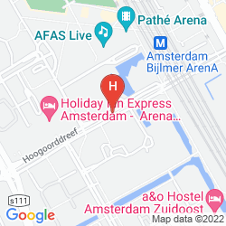 Mappa HOLIDAY INN EXPRESS AMSTERDAM ARENA TOWERS