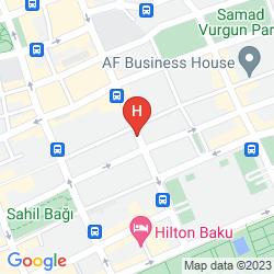 Mappa THE LANDMARK HOTEL BAKU