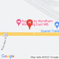 Mappa SUPER 8 WINNIPEG EAST MB