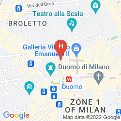 Mappa PARK HYATT MILAN