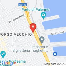 Mappa IBIS STYLES PALERMO PRESIDENT
