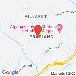Mappa VACANCES BLEUES LES CHALETS DU PRARIAND
