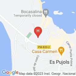 Mappa HOSTAL CALA ES PUJOLS