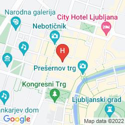 Mappa HOSTEL TRESOR LJUBLJANA