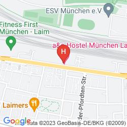 Mappa A&O MUENCHEN LAIM