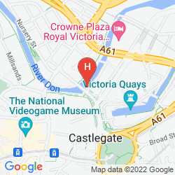 Mappa THE SHEFFIELD METROPOLITAN HOTEL