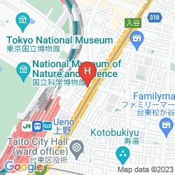 Mappa UENO HOTEL