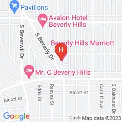Mappa BEVERLY HILLS MARRIOTT