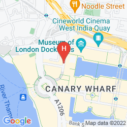Mappa TUNE HOTEL - LONDON, CANARY WHARF
