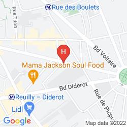 Mappa LE PATIO BASTILLE