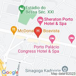 Mappa CROWNE PLAZA PORTO