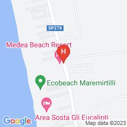 Mappa MEDEA BEACH RESORT