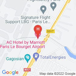 Mappa AC HOTEL PARIS LE BOURGET AIRPORT