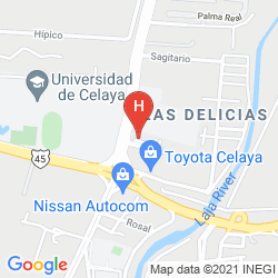 Mappa HOLIDAY INN EXPRESS & SUITES CELAYA