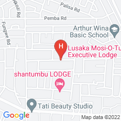 Mappa LUSAKA MOSI-O-TUNYA EXECUTIVE LODGE